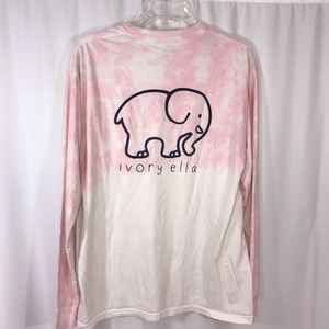Ivory Ella Pink Tye Dyed Long Sleeve Shirt Medium